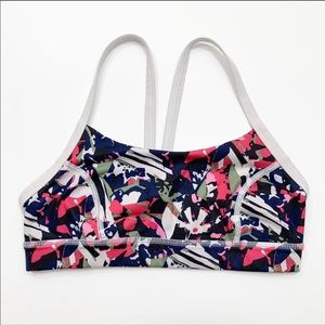 Lululemon Rise and Run Bra Mini Pop Cut Boom Juice